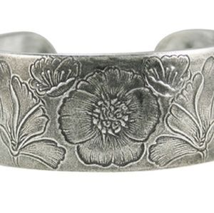 Salisbury Pewter Bracelet - Flower of the Month -